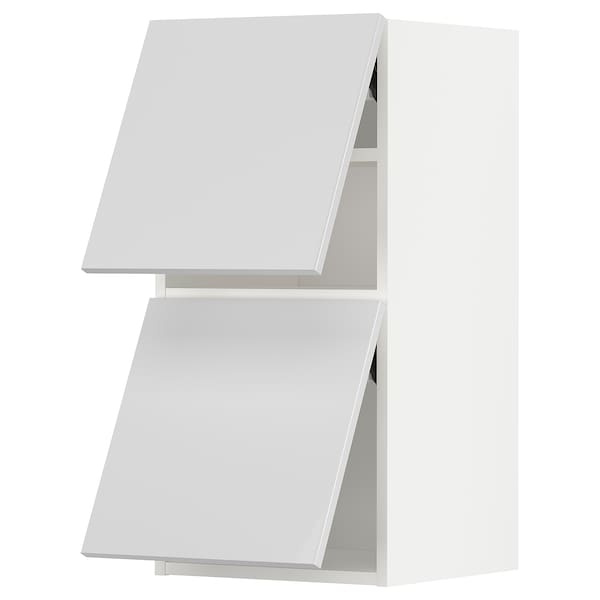 METOD メトード ウォールキャビネット 横型 扉2枚付き, ホワイト/リンガフルト ホワイト, 40x37x80 cm