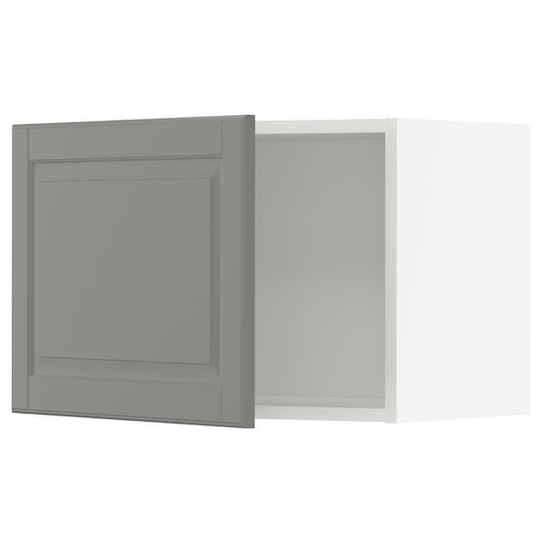 METOD メトード ウォールキャビネット, ホワイト/ボードビーン グレー, 60x37x40 cm