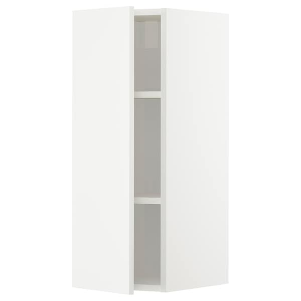 METOD メトード ウォールキャビネット 棚板付き, ホワイト/ヘッゲビー ホワイト, 30x37x80 cm