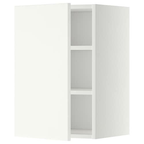メトード ウォールキャビネット 棚板付き ホワイト/ヘッゲビー ホワイト 40.0 cm 37 cm 38.6 cm 60.0 cm