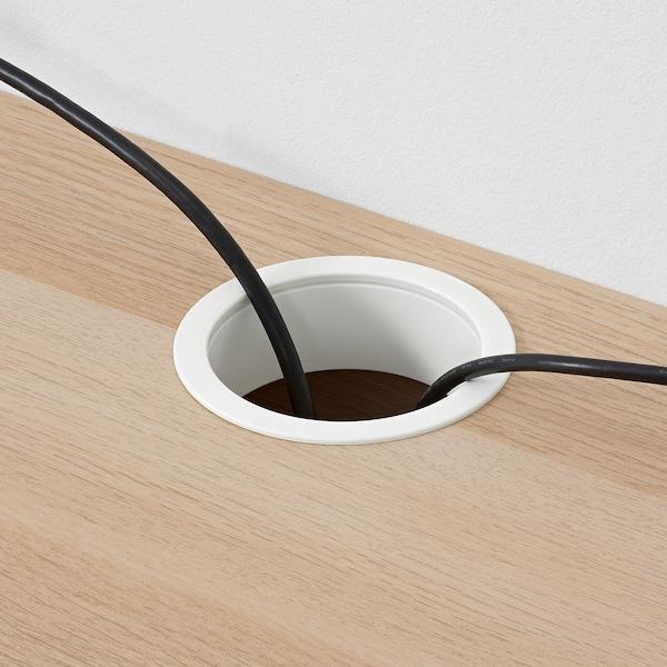 MICKE ミッケ デスク, ホワイトステインオーク調, 105x50 cm