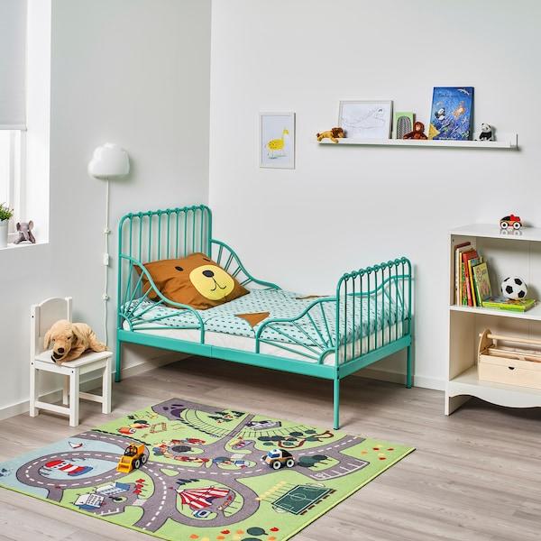 MINNEN ミンネン 伸長式ベッド, ターコイズ, 80x200 cm