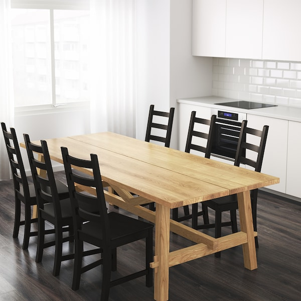 MÖCKELBY モッケルビー テーブル, オーク, 235x100 cm