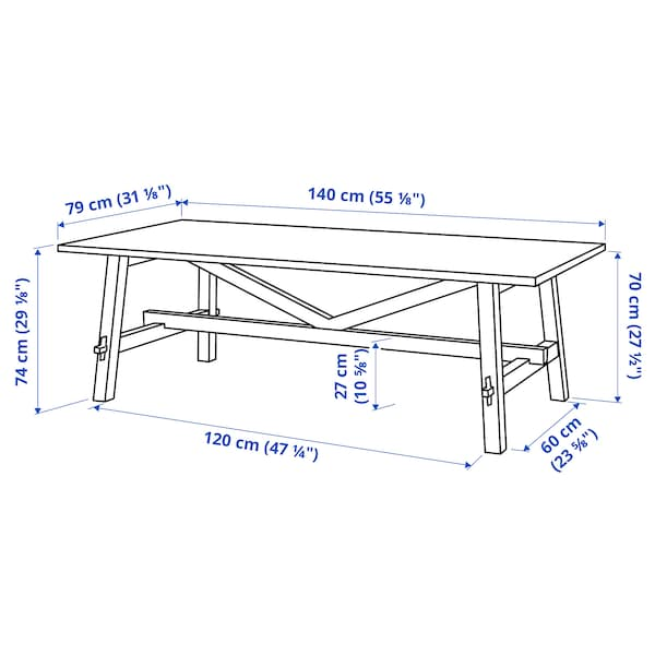 MÖCKELBY モッケルビー テーブル, オーク, 140x79 cm