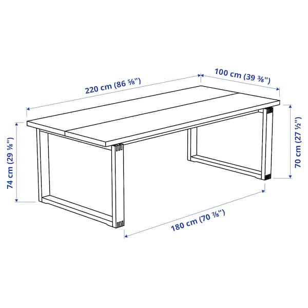 MÖRBYLÅNGA モールビロンガ テーブル, オーク材突き板 ブラウンステイン, 220x100 cm
