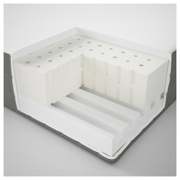 MORGEDAL モルゲダール ラテックスマットレス, ふつう/ダークグレー, 160x200 cm
