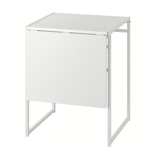 ムッデゥス ドロップリーフテーブル ホワイト 48 cm 92 cm 60 cm 74 cm