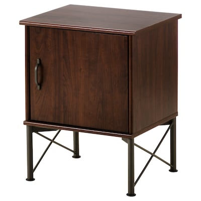 MUSKEN ムスケン ベッドサイドテーブル, ブラウン, 45x58 cm
