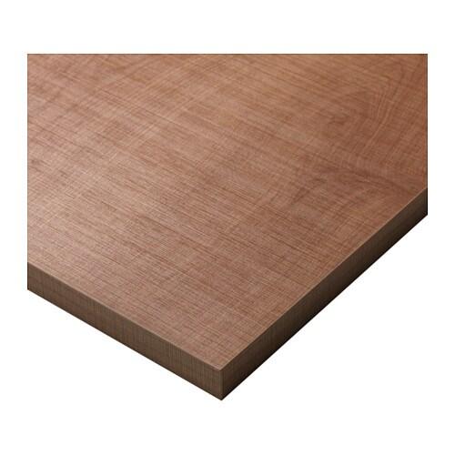 NASTEN テーブルトップ IKEA 脚を取り付けるための下穴が開いています