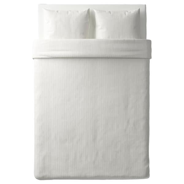 NATTJASMIN ナットヤスミン 掛け布団カバー&枕カバー(枕カバー2枚), ホワイト, 200x200/50x60 cm