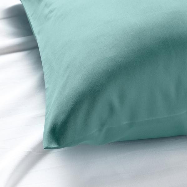 NATTJASMIN ナットヤスミン 枕カバー, グレーターコイズ, 50x60 cm