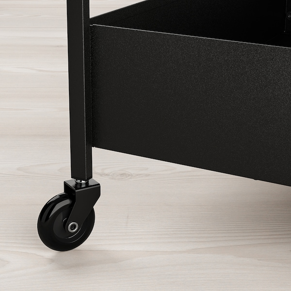 NISSAFORS ニッサフォース ワゴン, ブラック, 50.5x30x83 cm
