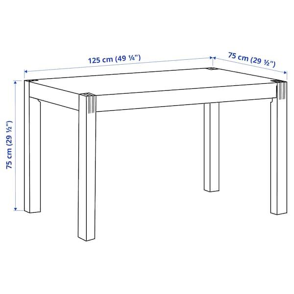 NORDBY ノールドビー テーブル, ゴムノキ, 125x75 cm