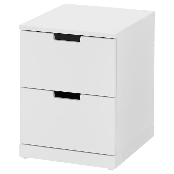 ノールドリ チェスト(引き出し×2) ホワイト 40 cm 47 cm 54 cm 39 cm