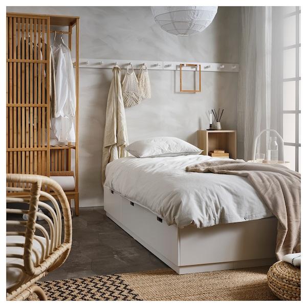 NORDLI ノールドリ ベッドフレーム 収納付き, ホワイト, 90x200 cm
