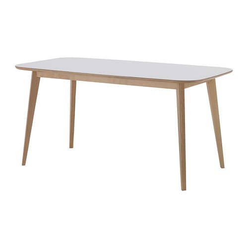 NORDMYRA テーブル, ホワイト, バーチ材突き板 - IKEA