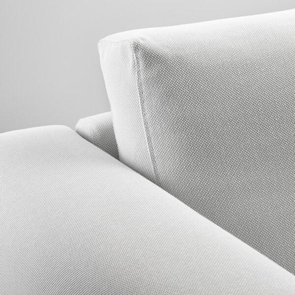 ノルスボリ 2人掛けソファ フィーンスタ ホワイト/メタル 153 cm 88 cm 85 cm 18 cm 60 cm 43 cm