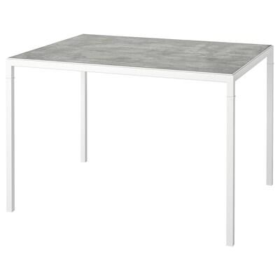 NYBODA ニーボーダ コーヒーテーブル リバーシブルテーブルトップ, ライトグレー コンクリート調/ホワイト, 75x60x50 cm