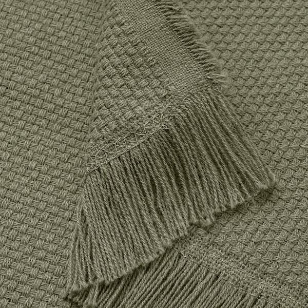 ODDRUN オッドルン ひざ掛け, ダークグリーン, 130x170 cm