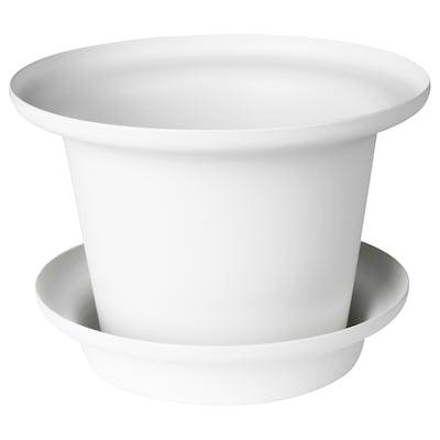 OMTÄNKSAM オムテンクサム 植木鉢 受け皿付き, ホワイト, 11 cm