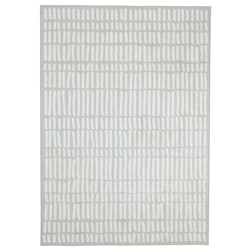 オムテンクサム ラグ 平織り ライトグレー/ホワイト 240 cm 170 cm 4.08 m²