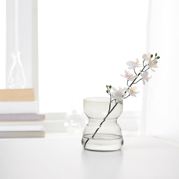 OMTÄNKSAM オムテンクサム 花瓶, ライトグレー, 18 cm