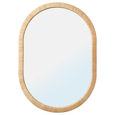 OPPHEM オップヘム ミラー, 籐, 54x77 cm
