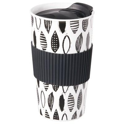 OSKADD オスカッド 携帯用マグ, ホワイト/ブラック, 45 cl