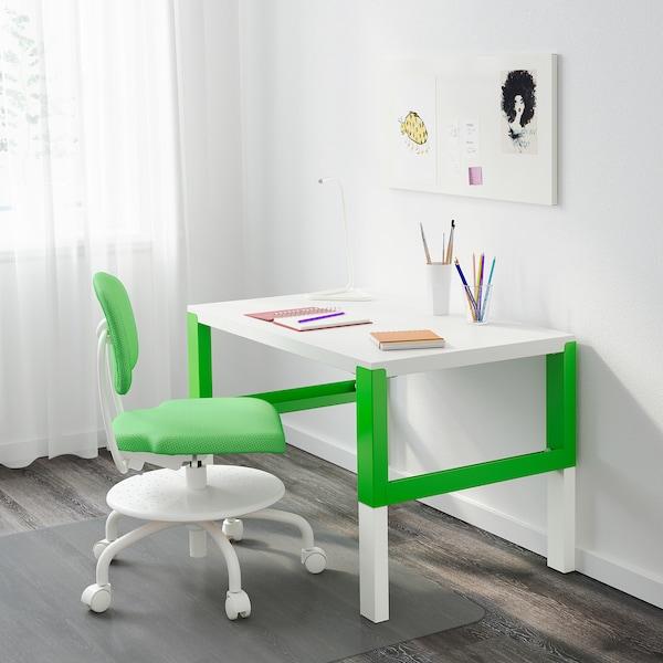 PÅHL ポール デスク, ホワイト/グリーン, 96x58 cm