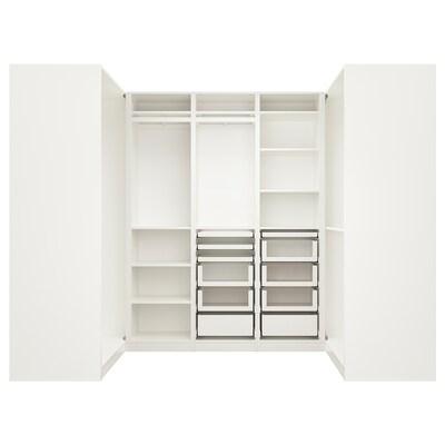 PAX パックス コーナーワードローブ, ホワイト, 113/271/113x201 cm