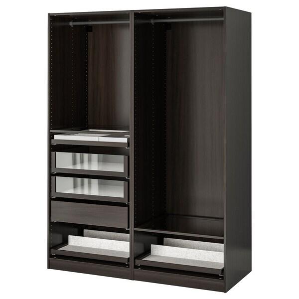 PAX パックス ワードローブコンビネーション, ブラックブラウン, 150x58x201 cm
