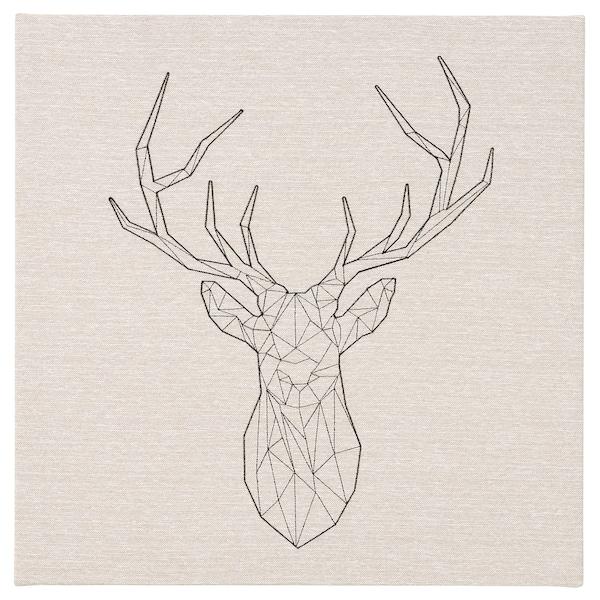 PJÄTTERYD プィエッテリード アート, 黒い鹿, 56x56 cm