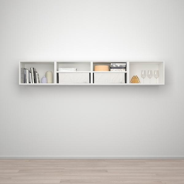 PLATSA プラッツァ ウォール収納, ホワイト フォッネス/ホワイト, 240x42x40 cm