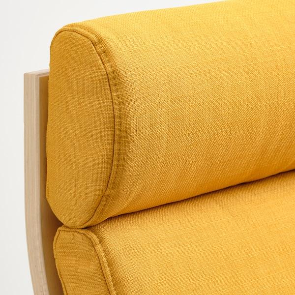 POÄNG ポエング パーソナルチェア, バーチ材突き板/スキフテボー イエロー