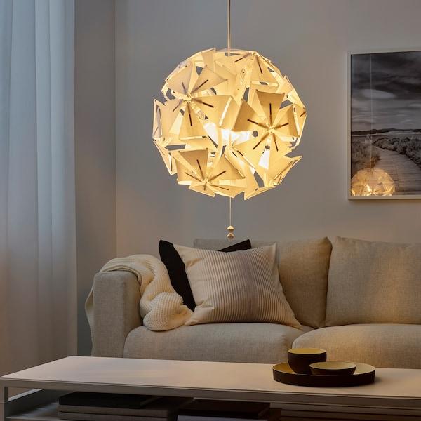 RAMSELE ラムセレ ペンダントランプ, 幾何学模様/ホワイト, 43 cm