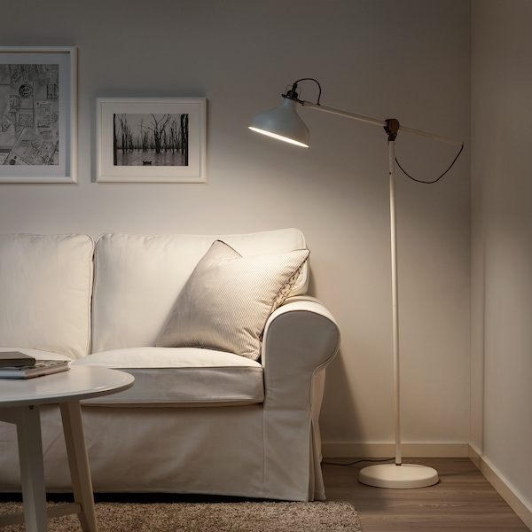 RANARP ラーナルプ フロア/読書 ランプ, オフホワイト