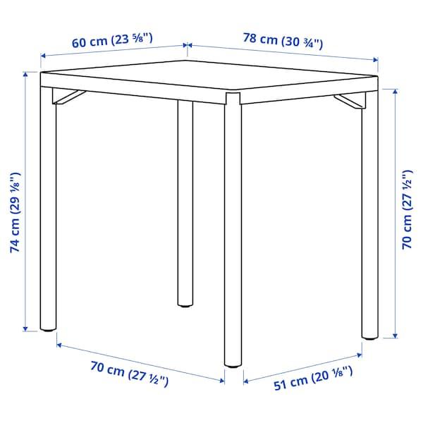 RÅVAROR ローヴァロール ダイニングテーブル, オーク材突き板, 60x78 cm