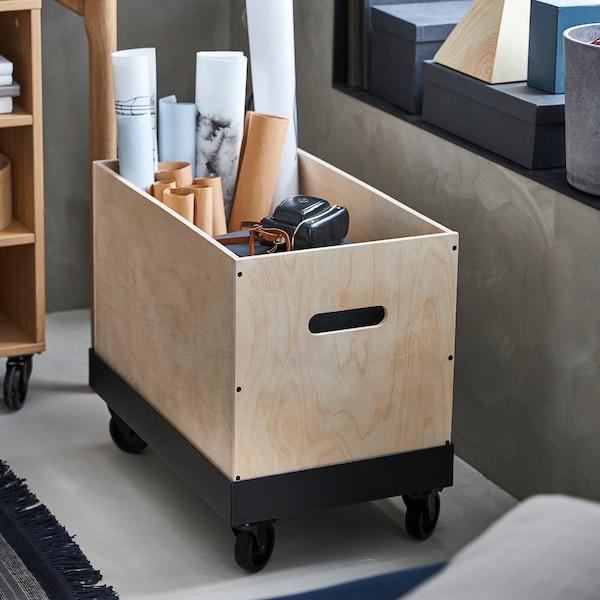 RÅVAROR ローヴァロール ワゴン, ブラック, 57x34 cm