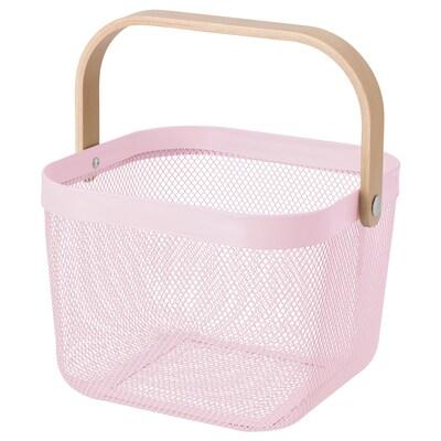 RISATORP リーサトルプ バスケット, ライトピンク, 25x26x18 cm