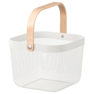 RISATORP リーサトルプ バスケット, ホワイト, 25x26x18 cm