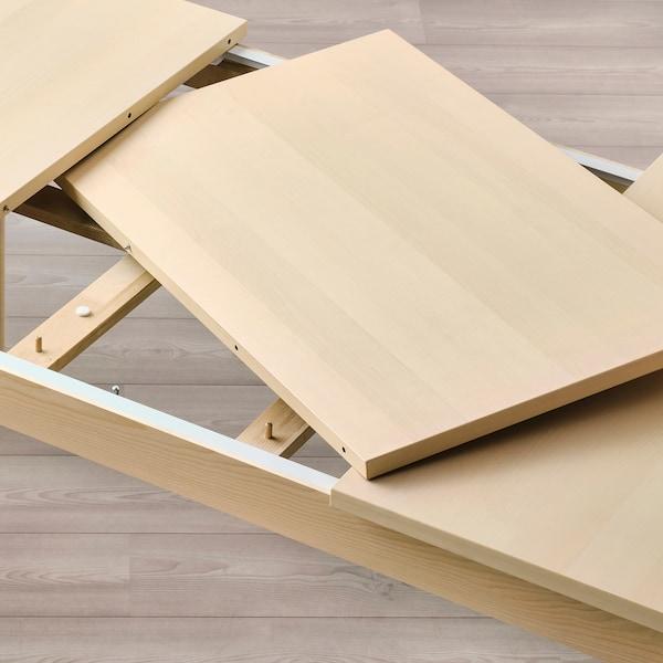 RÖNNINGE ロッニンゲ 伸長式テーブル, バーチ, 155/210x90x75 cm