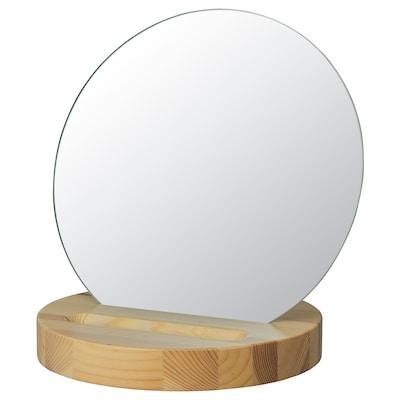 ROVERUD ルーヴェルード テーブルミラー, パイン材, 24 cm