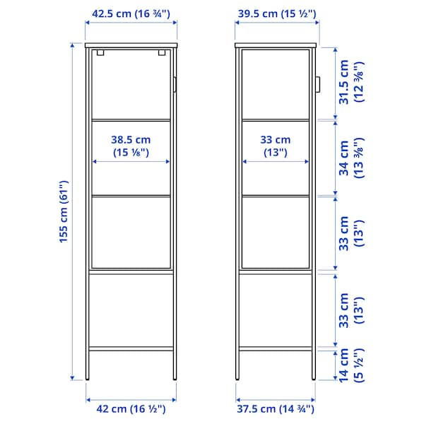 RUDSTA ルードスタ コレクションケース, チャコール, 42x37x155 cm