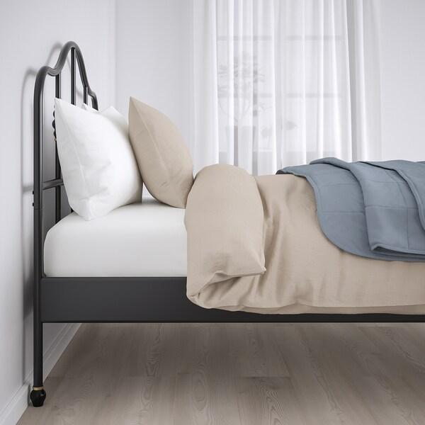 SAGSTUA サグストゥーア ベッドフレーム, ブラック/ルーローイ, 120x200 cm