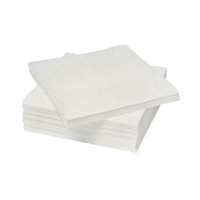 SAMARIT サンマリト 紙ナプキン, ホワイト, 24x24 cm