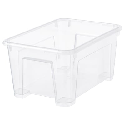 SAMLA サムラ ボックス, 透明, 28x19x14 cm/5 l