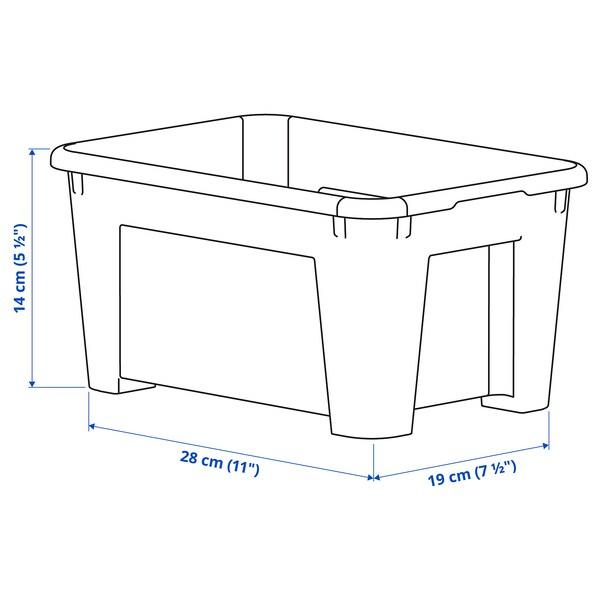 サムラ ボックス 透明 28 cm 19 cm 14 cm 5 l