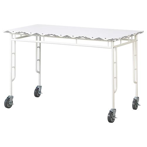サッマンコップラ テーブル ホワイト/ブラック 120 cm 60 cm 75 cm