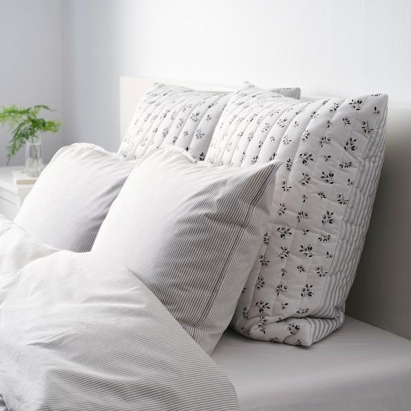 SANDLUPIN サンドルピン クッションカバー, ホワイト/グレー, 65x65 cm