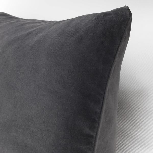 SANELA サネーラ クッションカバー, ダークグレー, 50x50 cm